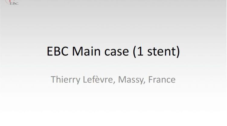 EBC Main case (1 stent) [ Thierry Lefevre, France ] 2017