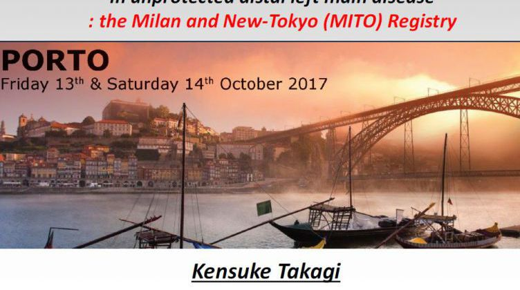 Comparison between one- and two-stent strategies in unprotected distal left main disease: the Milan and New-Tokyo (MITO) Registry [ Kensuke Takagi, Japan ] 2017