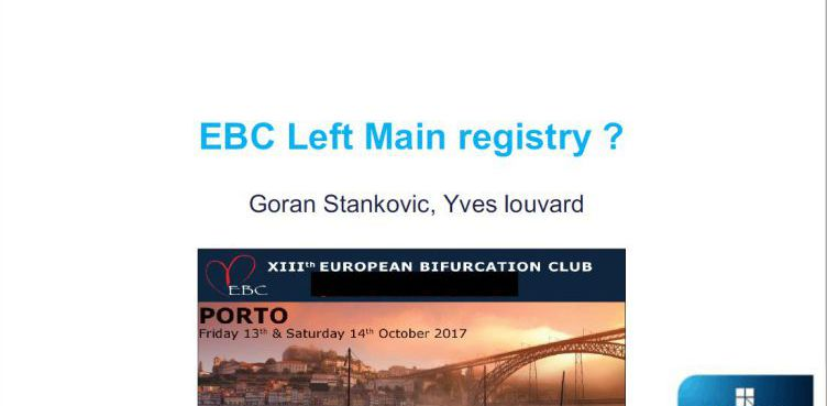 EBC Left Main registry ? [ Yves Louvard, France ] 2017